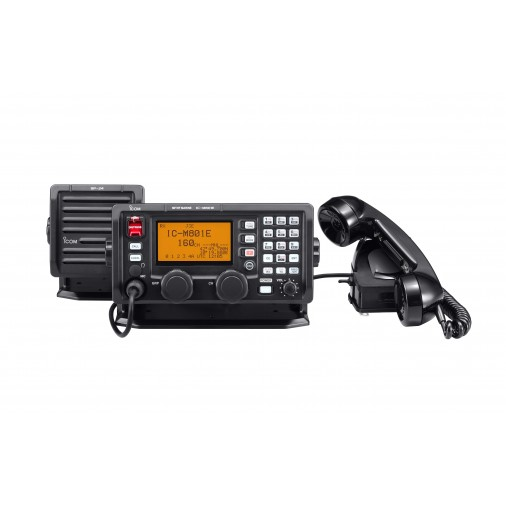 IC-M801E - BLU disponible en :      -Pack STANDARD  avec combiné haut parleur, combiné, pupitre de commande et berceau de montage.    ou     -Pack PLUS  avec ... - IC-M801E